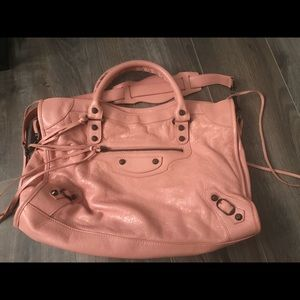 Authentic Balenciaga City Bag in Salmon Pink